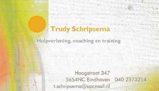 Trudy Schripsema - Hulpverlening, coaching en training